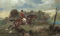 veneur à cheval by jonny audy