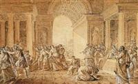 scène de la bible avec salomon jeune ou david by edme gois