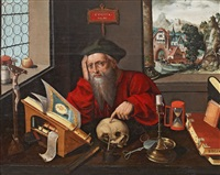 saint jerome in the study by marinus van reymerswaele
