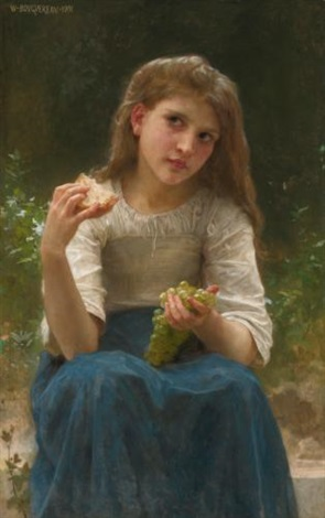 le goûter by william adolphe bouguereau