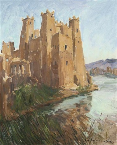 kasbah du sud marocain by paul jean anderbouhr