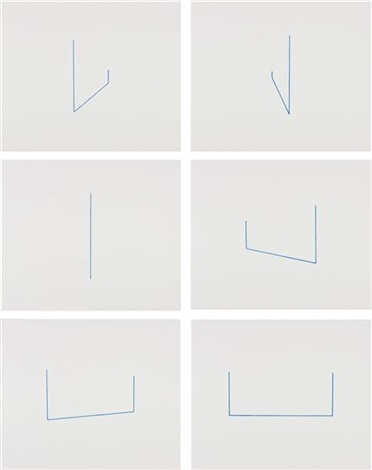 six lithographs set of 6 by fred sandback