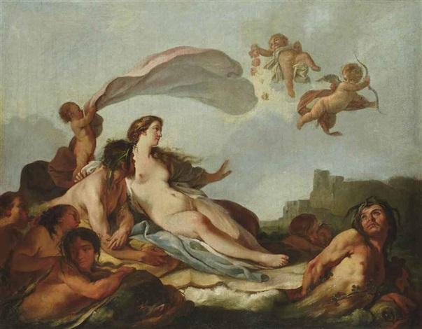 vénus sur les eaux by jean baptiste marie pierre