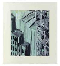 green cityscape by martha diamond