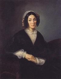 jeune femme au bonnet de dentelles by augustine camille lesueur