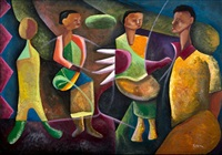 four figures and a bird by martin qgibinsizi tose