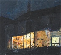 the cottage at night, scilly by kurt jackson rwa