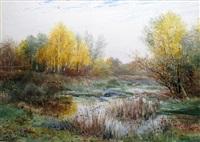 petite rivière à l'automne by auguste allongé