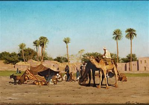 A North African Oasis By Andreas Christian Riis Carstensen On Artnet