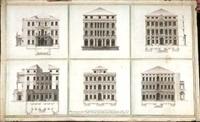six projets pour le remaniement de la façade du palais dolfin manin, à venise by giovanni antonio selva