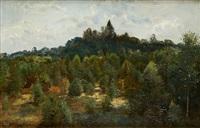 vue du parc de laeken by hippolyte emmanuel boulenger