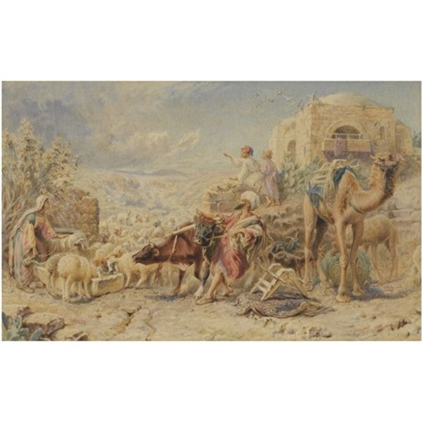 an egyptian watering hole by william j webbe webb