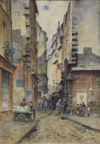 escena en una calle de pueblo by alex homa