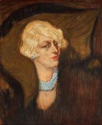 portret blondynki by kasimir dunin markiewicz