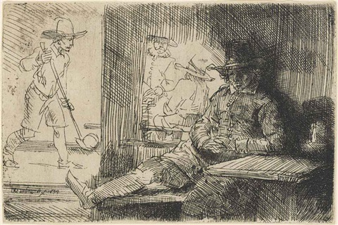 the golf player by rembrandt van rijn
