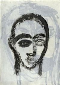 portrait noir sur fond gris by jean-philippe aubanel