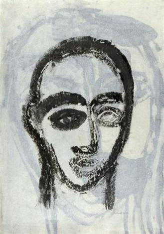 portrait noir sur fond gris by jean philippe aubanel