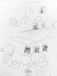 composition aux arbres by dora maar