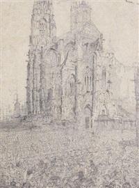 la cathédrale. première planche by james ensor