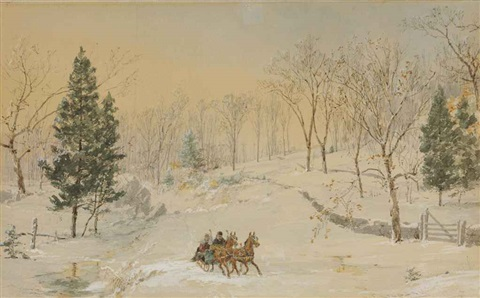 winter ravensdale road by jasper francis cropsey