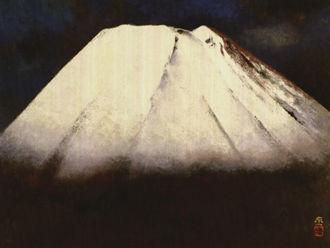 mount fuji in the spring snow by kato toichi