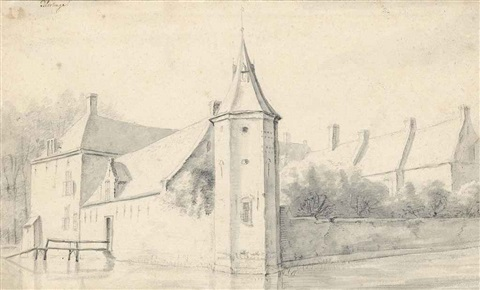 view of blootinge castle near the hague by roelant roghman