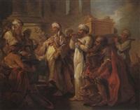 salomon fait transporter l'arche dans le temple by blaise nicolas le sueur