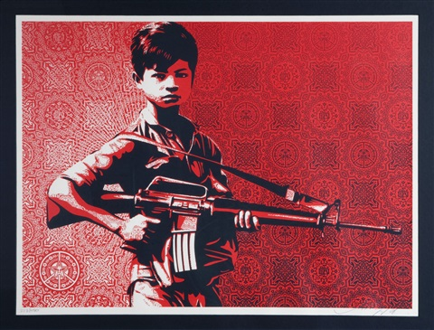 duality of humanity 4 by shepard fairey