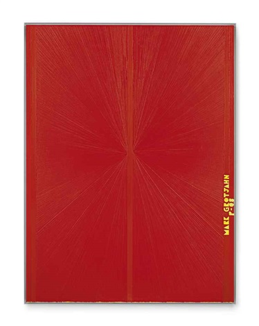 untitled red butterfly ii yellow mark grotjahn p 08 752 by mark grotjahn