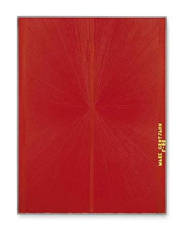 untitled red butterfly ii yellow mark grotjahn p 08 752 by mark grotjahn