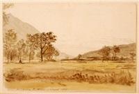 llanberris sic., north wales by john linnell