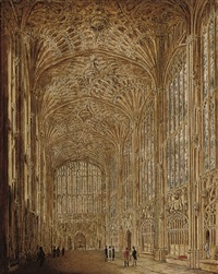 kings college chapel, cambridge by joseph murray ince