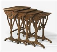 set of four nesting tables by émile gallé