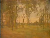 paysage du dauphine by claude (regnier) reignier