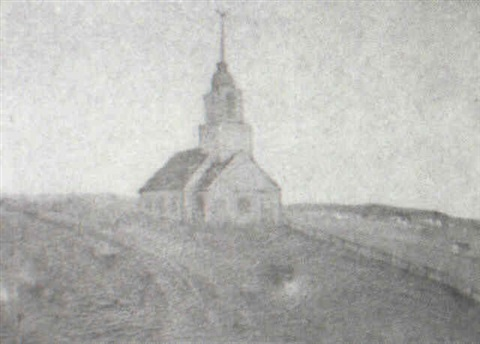 church by a road by gertrude fiske