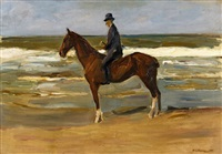 reiter am strand nach links by max liebermann