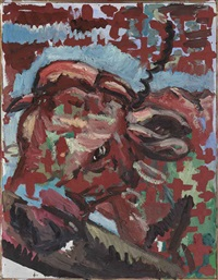 die kuh (the cow) by georg baselitz