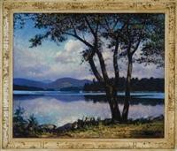 shepard's point, lake pennesseewassee, norway, maine by vivian milner akers