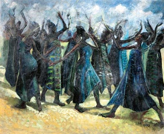 dancers by ben enwonwu