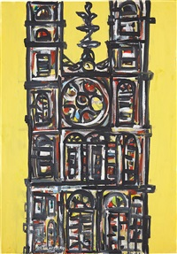 catedral en amarillo by rené portocarrero