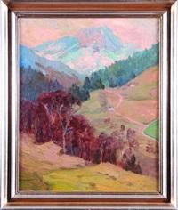 pejzaż górski ze schroniskiem w unterstein by joan anacker