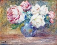 vase de roses by lucien boulier