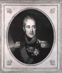portrait du comte d'artois, futur charles x by francois-louis gounod