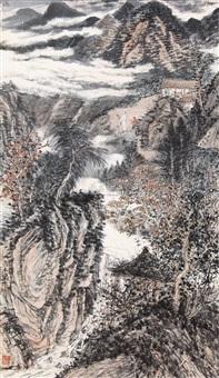携琴访友图 (visiting friend with qin) by liu yanshui