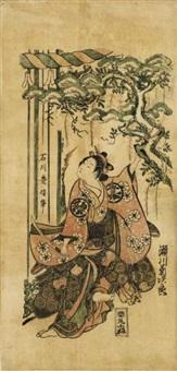 segawa kikujiro i as kumo no taema (hosoban benzuri-e) by ishikawa (nishimura shigenobu) toyonobu