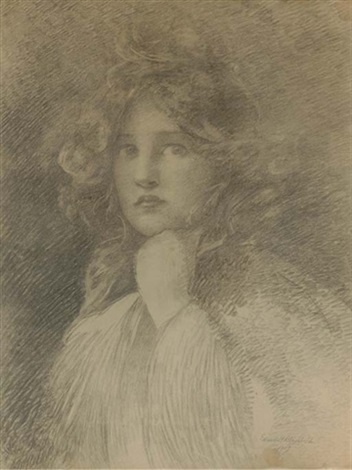 portrait of a girl by edwin howland blashfield