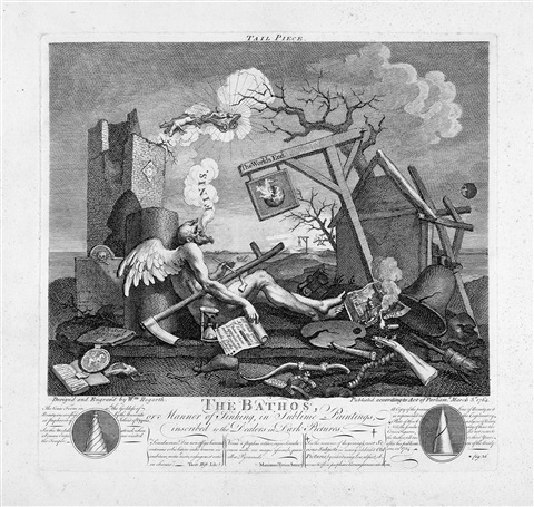 tail piece or the the bathos by william hogarth