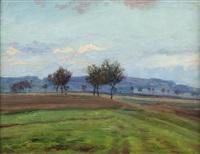 spring landscape by frantisek kavan