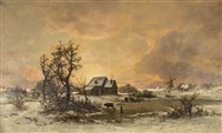 winter landscape san francisco by carl von perbandt