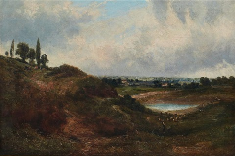 paysage lacustre by john constable